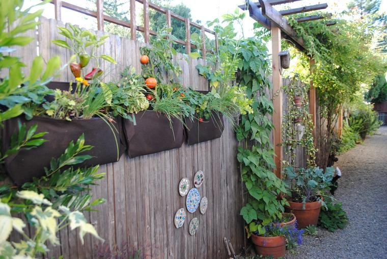rusticos muros madera para patios