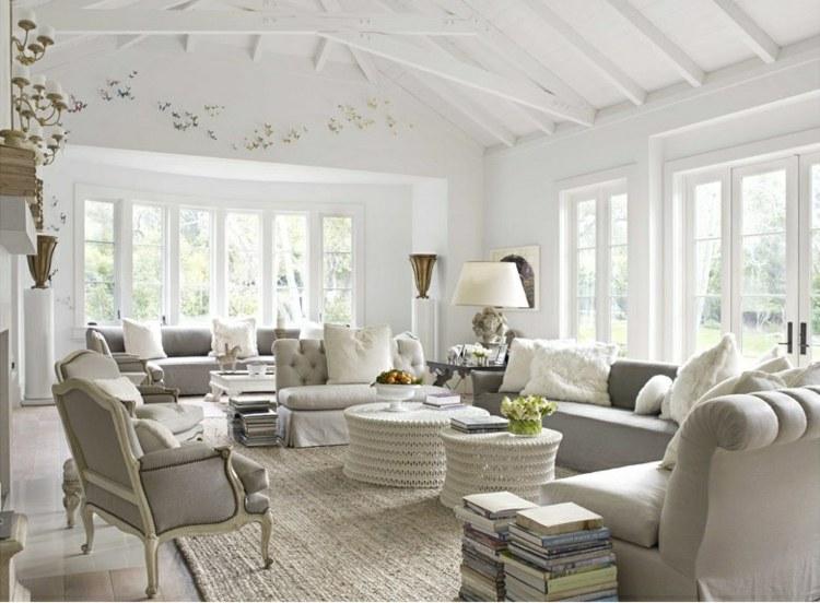 Salon gris y blanco la tendencia de esta temporada - Ultimas tendencias en decoracion de paredes ...