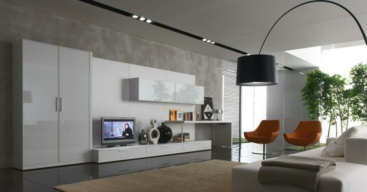 salón moderno estilo industrial