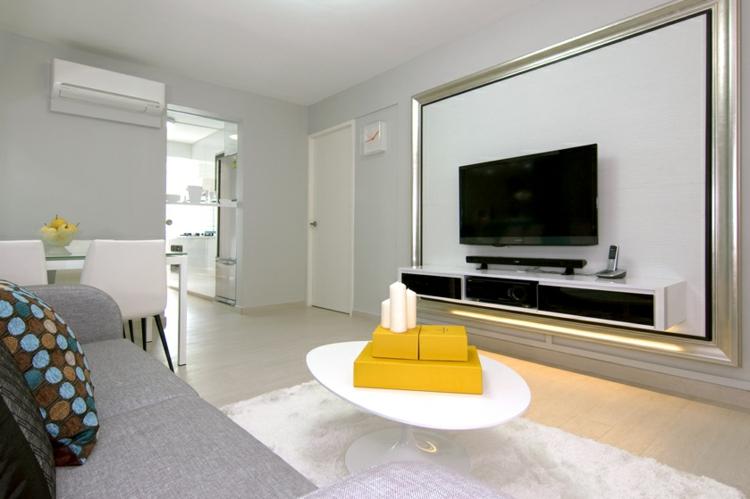 sala de estar lujosa moderna