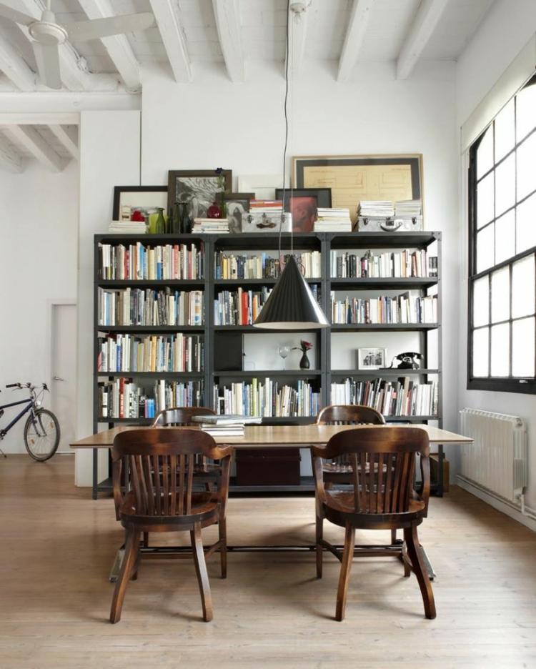 sala estar mueble libros