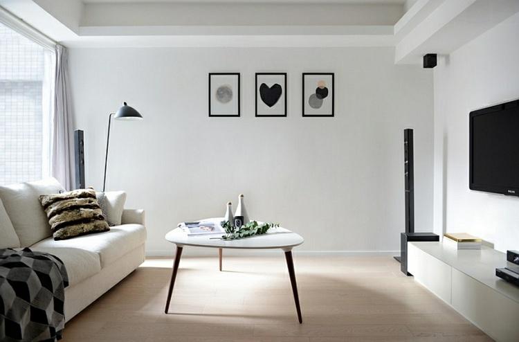 sala estar pequeña minimalista