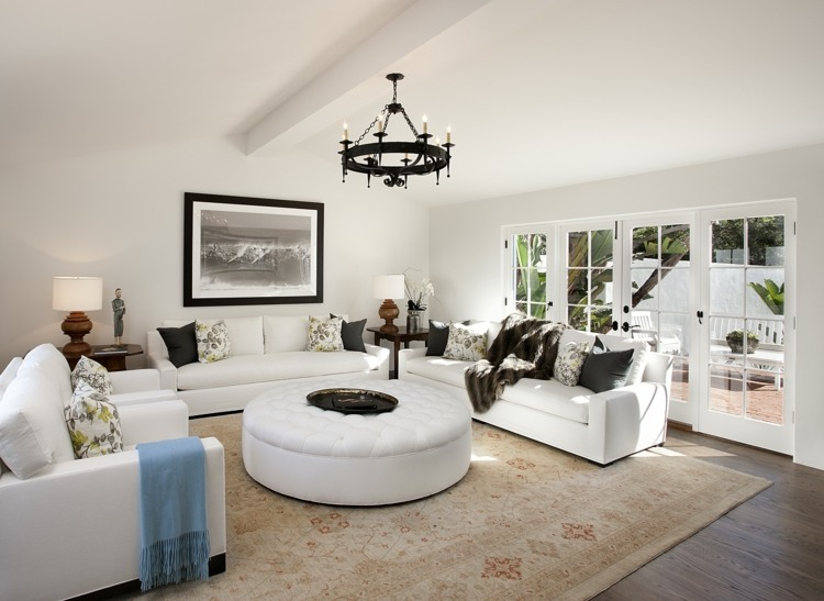 salon moderno estilo nordico colonial