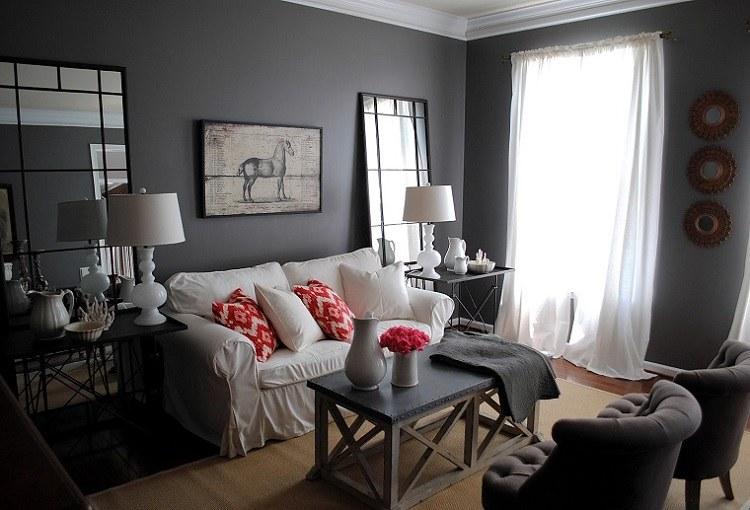 Salon gris y blanco la tendencia de esta temporada