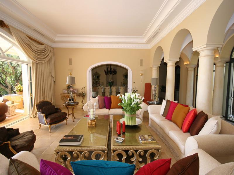 diseño salon lujoso estilo andaluz