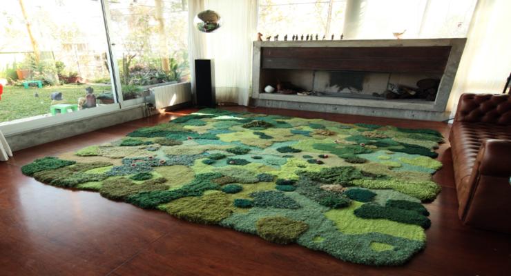 salon diseño alfombra musgos