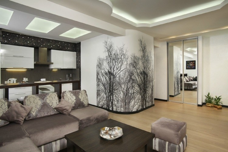 Wohnzimmer Malen Braun