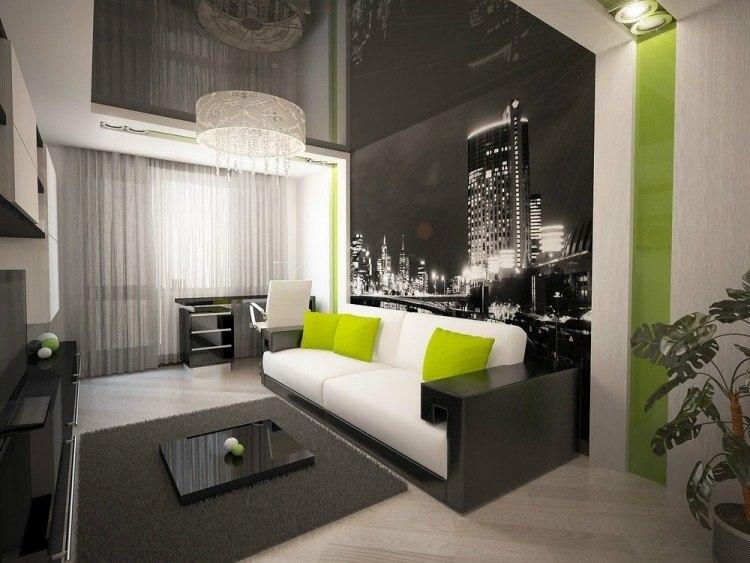 wohnzimmer weiss braun schwarz zeitgenossische on braun designs auf ...