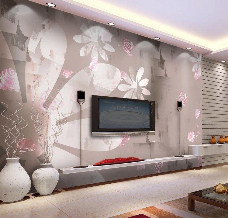 Moderne Wandgestaltung Mit Tapeten | Ziakia – ragopige.info