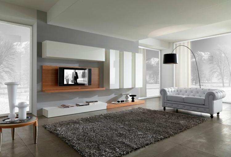 salon moderno sofá chesterfield