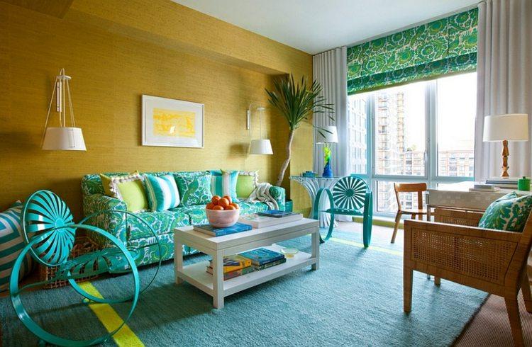 salon original decoración muebles