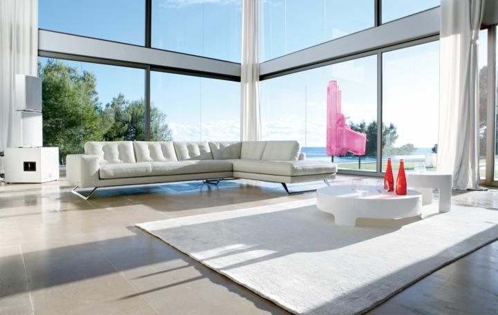 salones decorados en blanco cristales salones cortinas