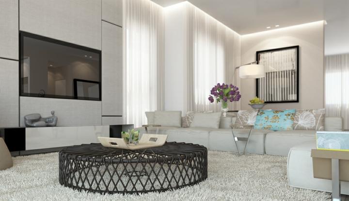 salones decorados en blanco ideas tendencias flores