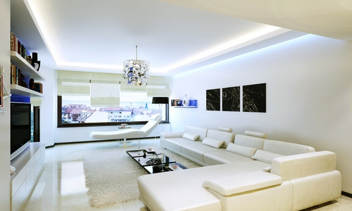 Salones decorados en blanco luminosos y elegantes - Imagenes de salones decorados ...