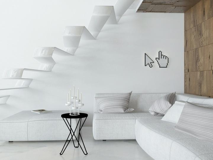 salones decorados en blanco paredes manos moderno