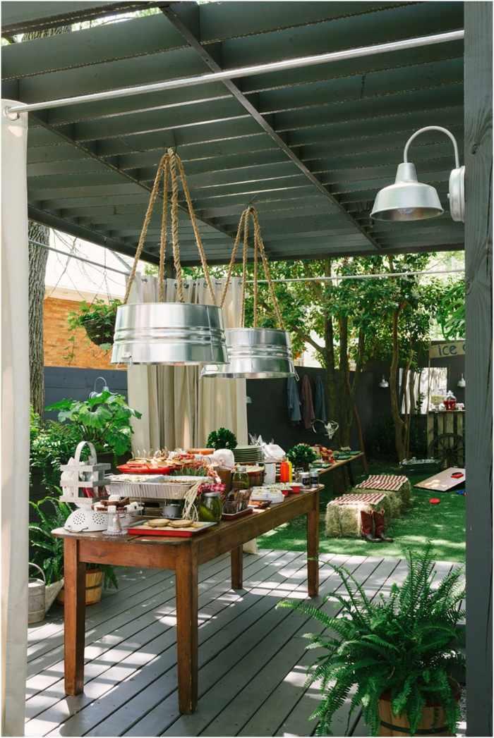 salones exteriores mesas casas diseños cuerdas