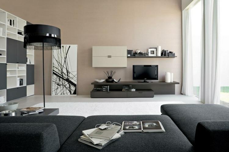 salones modernos color gris