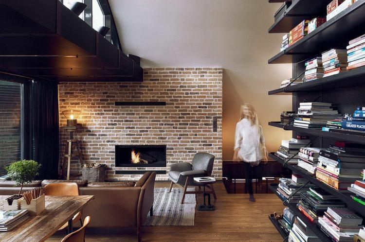 salones modernos estantes libros diseño