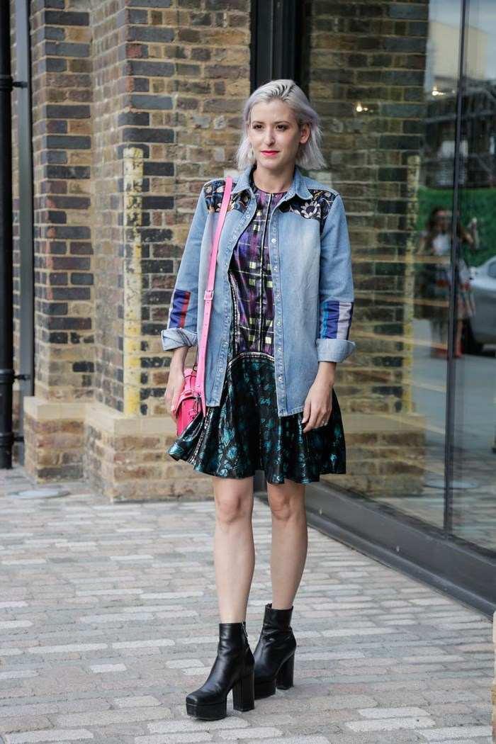 semana moda londres estilo callejero chaqueta vaquera larga ideas
