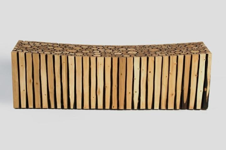 sillon interiores bajo curvados paredes troncos