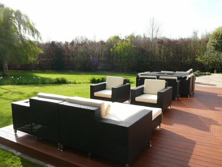 sillones sofás jardín mimbre terraza