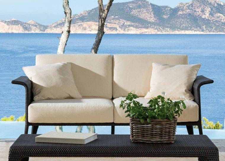 sillon sofa mimbre moderno