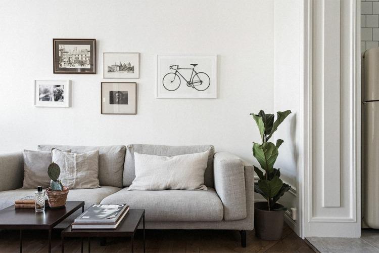 Salon gris y blanco la tendencia de esta temporada for Paredes focales