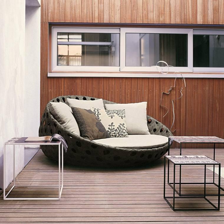 sofa exterior moderna forma redonda ideas