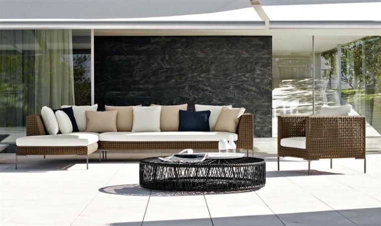 sofa exterior moderna grande mesa preciosa negra ideas