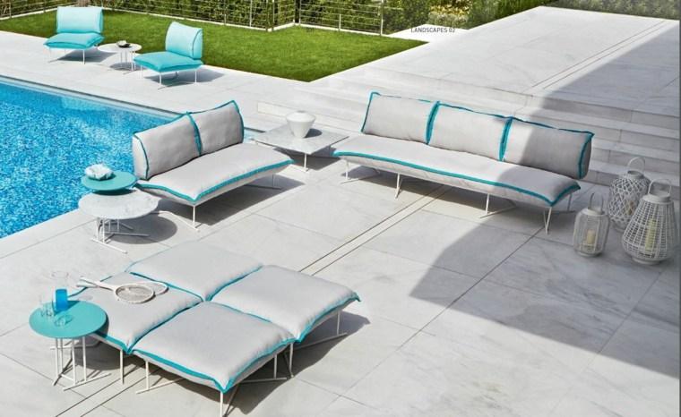 sofa exterior moderna muebles jardin ideas