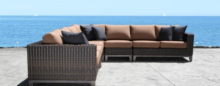 sofa exterior moderna piezas preciosas ideas