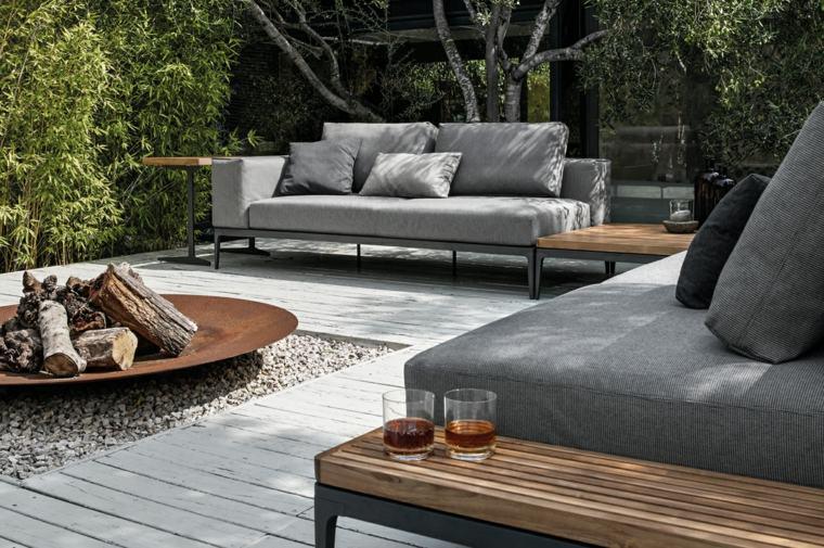 sofa exterior moderna plato fuego precioso ideas