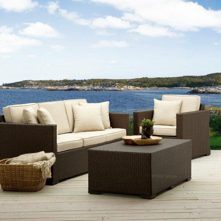 sofa exterior rattan sillon mesa ideas