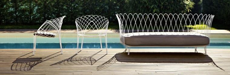 sofa exterior sillas acero moderna original ideas