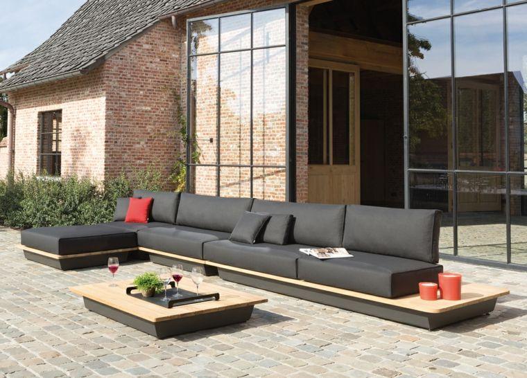 sofa jardin éstilo moderno