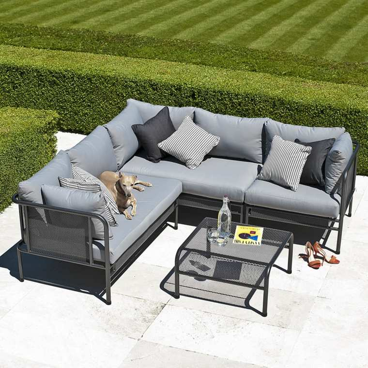 sofa jardin color gris