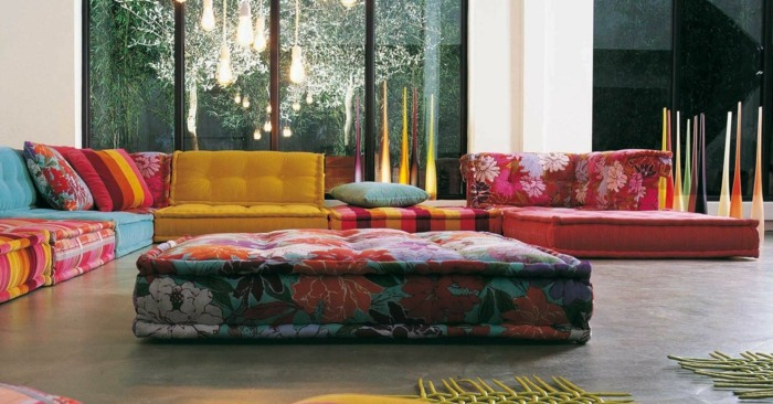 sofa mah jong elegantes complementos inidad mesa