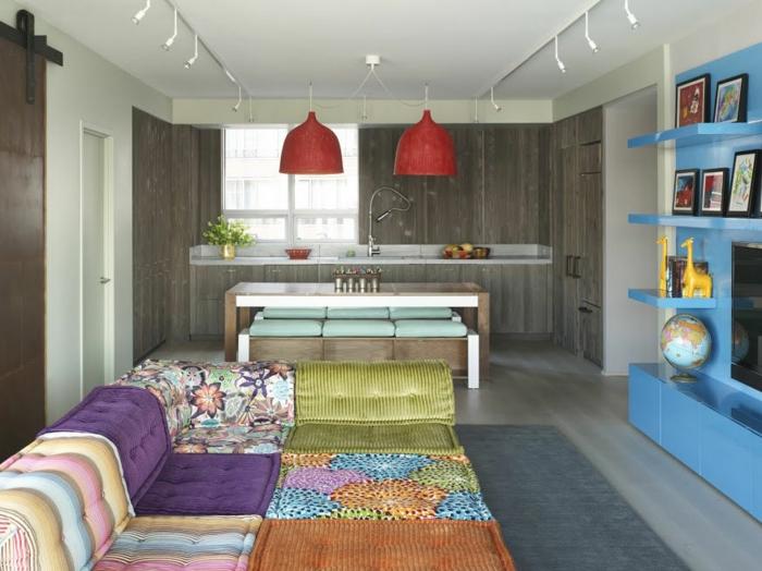 sofa mah jong elegantes detalles apartamentos colores