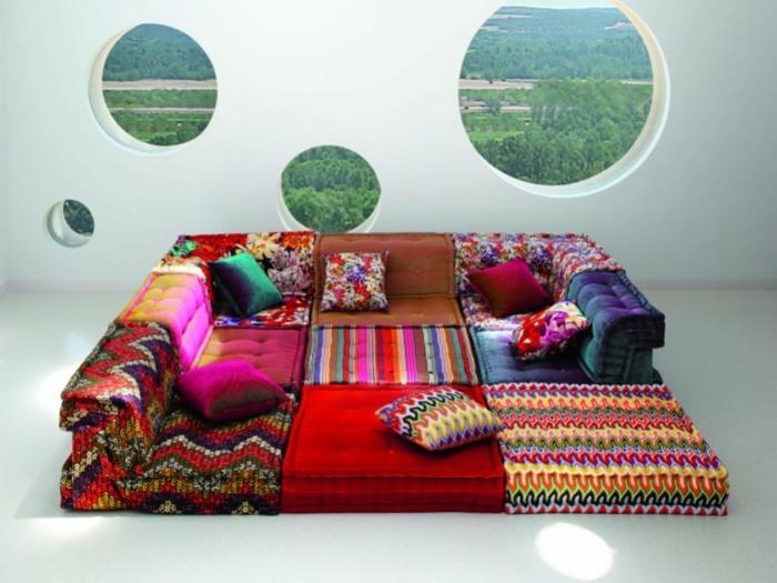 sofa mah jong elegantes detalles muebles circulos