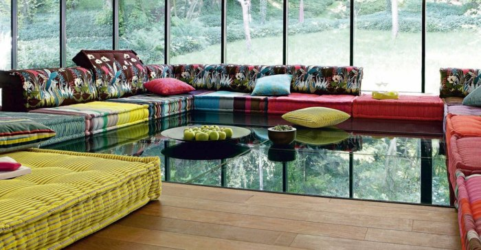 sofa mah jong elegantes detalles paredes amarillo
