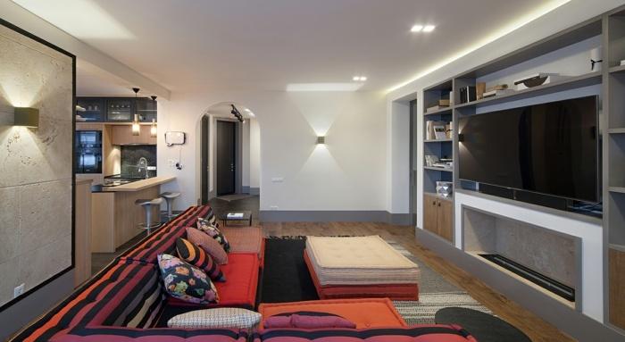 sofa mah jong elegantes lamparas lineas led