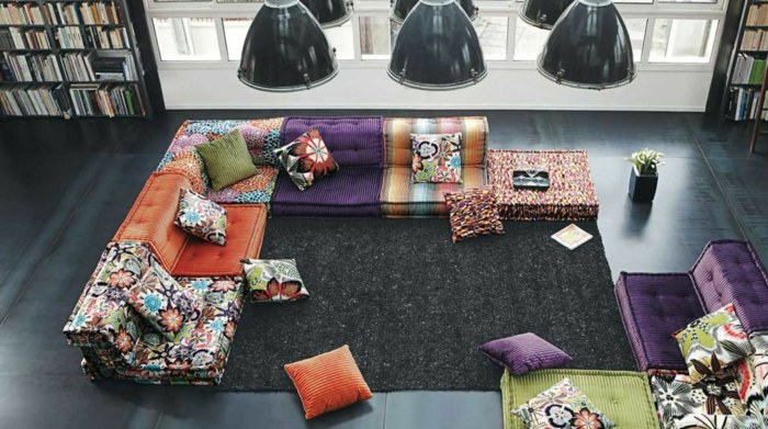 sofa mah jong elegantes lamparas momentos cojines