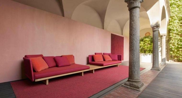sofa moderna color rosa llamativo ideas