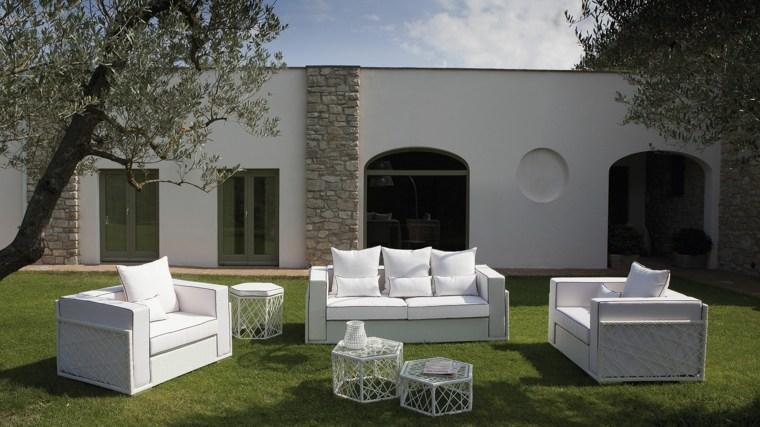 sofa moderna jardin amplio cesped ideas