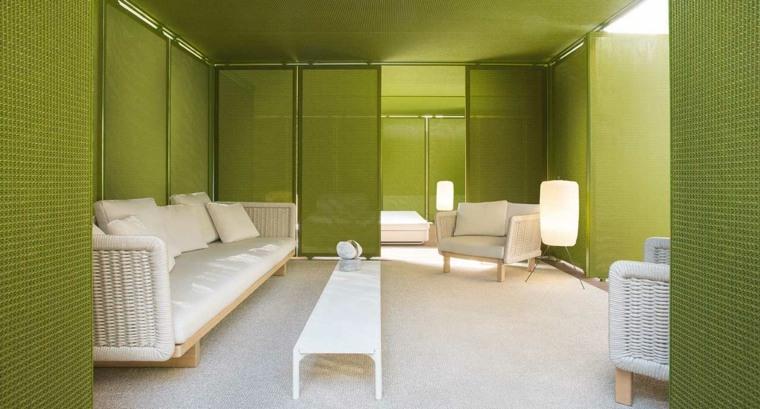 sofa moderna muebles blancos exterior ideas