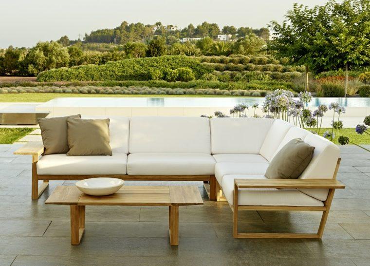 sofá moderno diseño madera