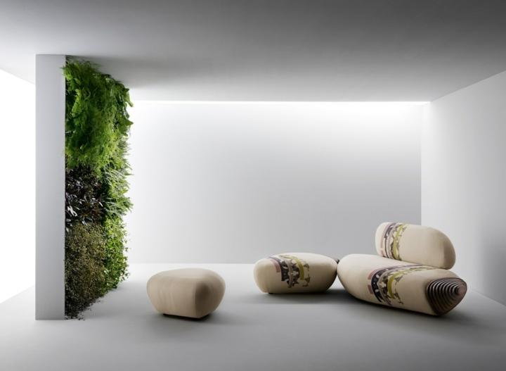 sofas creatividad ideas botan plantas verticales