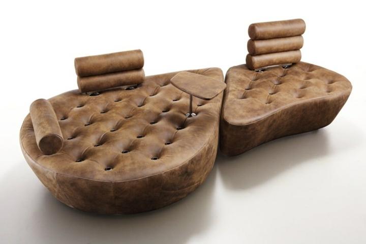 sofas creatividad ideas salones imitacion cuero