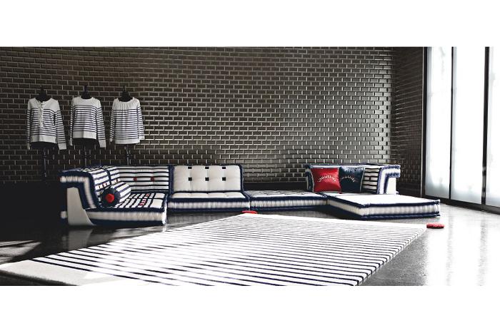 sofas ideas diseños tendencias ladrillos rojos