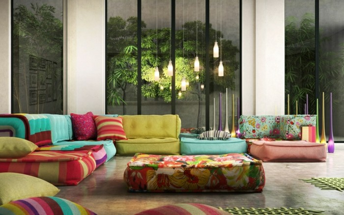 sofas ideas diseños tendencias puentes lamparas